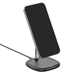 Беспроводное зарядное устройство Baseus Swan Magnetic Desktop Bracket Wireless Charger Suit для iPhone 12 (WXSW-01) черное
