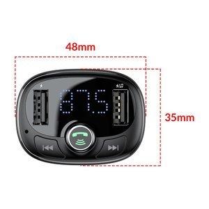 Автомобильное зарядное устройство Baseus T typed S-09 Bluetooth MP3 черное