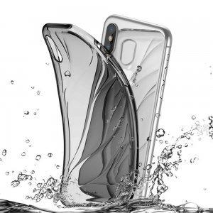 Полупрозрачный чехол Baseus Water Modelling черный для iPhone X/XS
