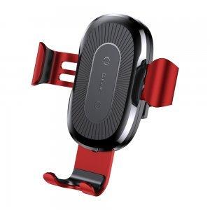 Беспроводное автомобильное ЗУ Baseus Wireless Charger Gravity Car Mount красный