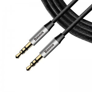 Аудиокабель Baseus Yiven Audio Cable M30 1M серебристый + черный