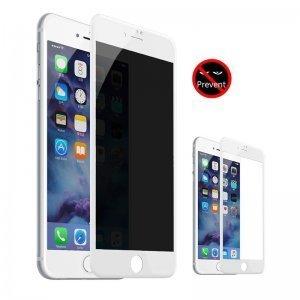 Захисне скло Baseus 0.23мм із захистом від підглядання біле для iPhone 7 Plus