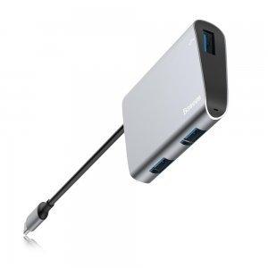 Хаб Baseus Enjoyment Type-C на 2 x USB 2.0 + USB 3.0 HUB серый