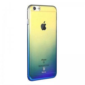 Полупрозрачный чехол Baseus Glaze синий для iPhone 6/6S