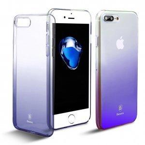 Полупрозрачный чехол Baseus Glaze чёрный для iPhone 7 Plus