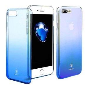 Полупрозрачный чехол Baseus Glaze синий для iPhone 8 Plus/7 Plus