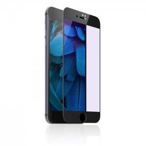 Защитное 3D стекло Baseus Blue Light, 0.23мм, защита глаз, с черной рамкой для iPhone 6/6S
