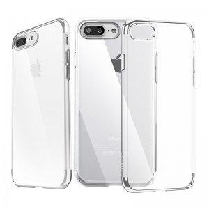 Силиконовый чехол Baseus Shining серебристый для iPhone 8 Plus/7 Plus