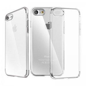 Силиконовый (TPU) чехол Baseus Shining серебристый для iPhone 8/7