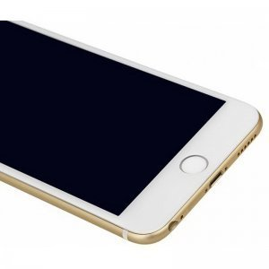 Защитное 3D стекло Baseus Silk printing, белое для iPhone 6/6S