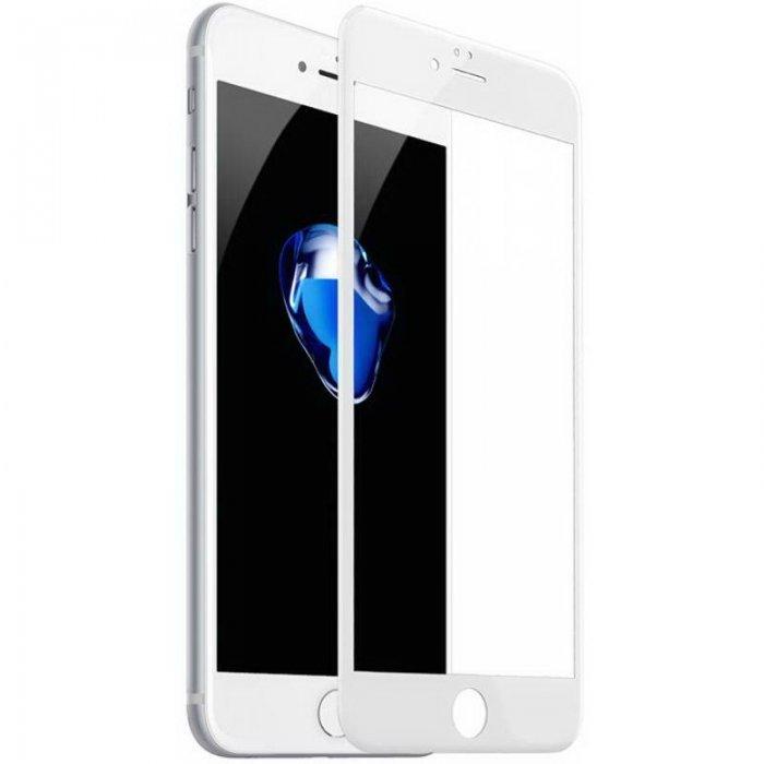 Защитное стекло Baseus Silk printing 3D Anti Soft белое для iPhone6 Plus/6S Plus