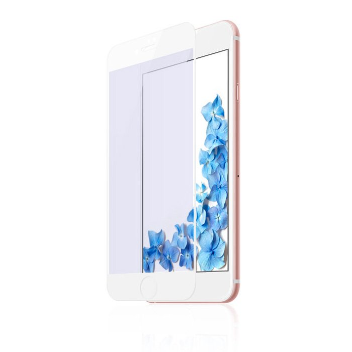 Защитное стекло Baseus 0.3mm All-screen Arc-surface Anti-bluelight белое для iPhone 7/8