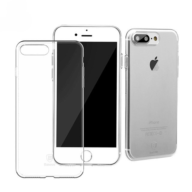 Прозрачный силиконовый чехол Baseus Simple для iPhone 8 Plus/7 Plus