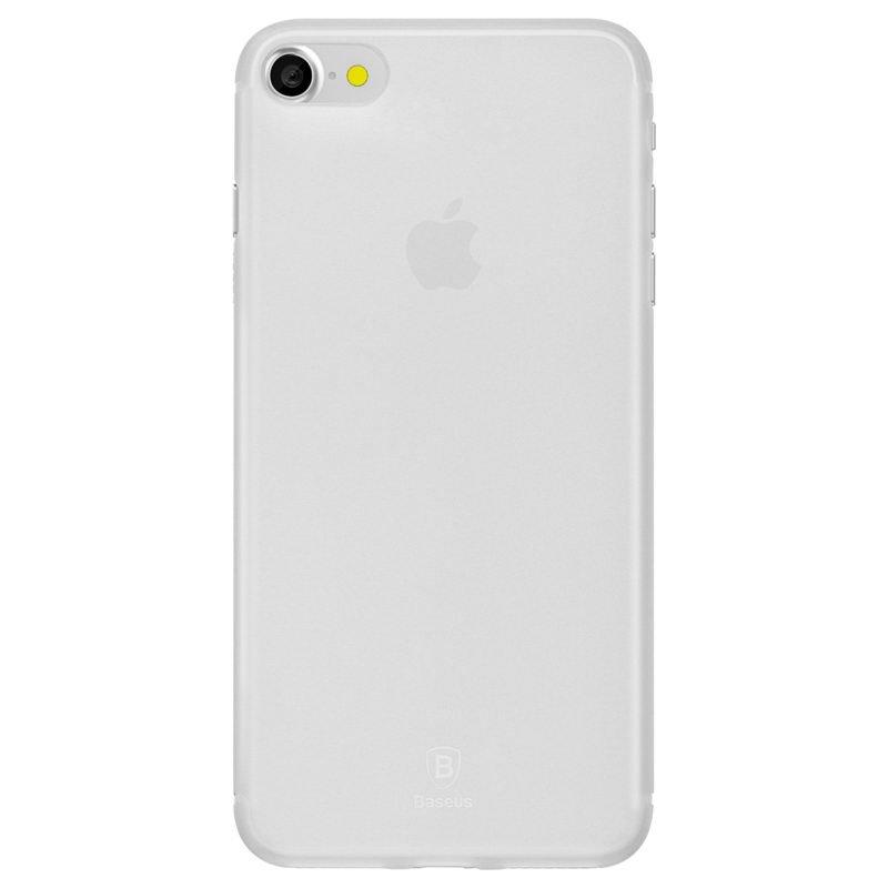 Полупрозрачный чехол Baseus Slim белый для iPhone 8/7