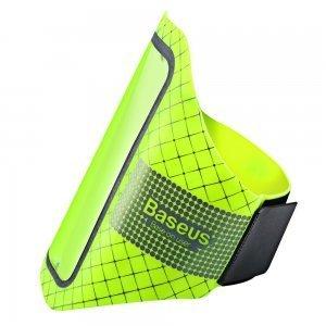 "Спортивный чехол на бицепс Baseus Ultra-thin Sports Armband зеленый для смартфонов до 5.5"""