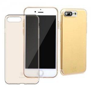 Полупрозрачный чехол Baseus Simple золотой для iPhone 8 Plus/7 Plus