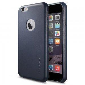 Чехол-накладка для Apple iPhone 6 - SGP Leather Fit синий