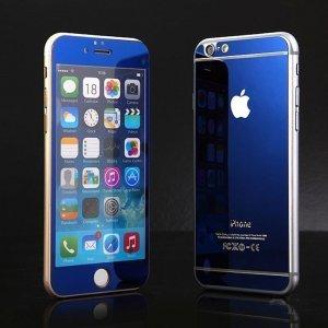 Защитное стекло для Apple iPhone 6 - зеркальное, синее