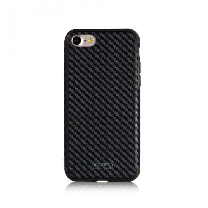 Пластиковый чехол WK Roxy Chrome черный для iPhone 8/7