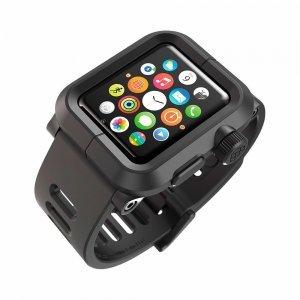 Чехол-ремешок для Apple Watch - LunaTik EPIK 2 черный поликарбонат + черный силиконовый ремешок