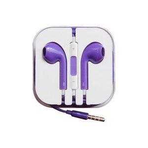 Наушники аналог Apple EarPods с микрофоном и пультом управления фиолетовые