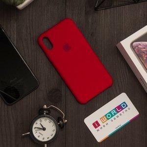 Чехол Apple Silicone Case красный для iPhone X (реплика)
