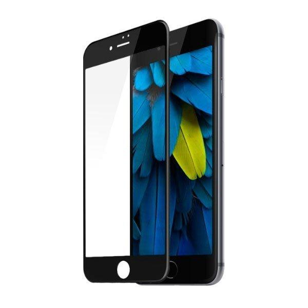 Защитное стекло Baseus soft silkscreen, 0.3мм, глянцевое, черное для iPhone 7
