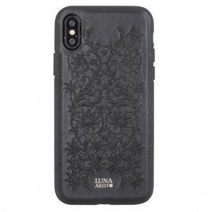 Кожаный чехол Luna Aristo Bess чёрный для iPhone X/XS