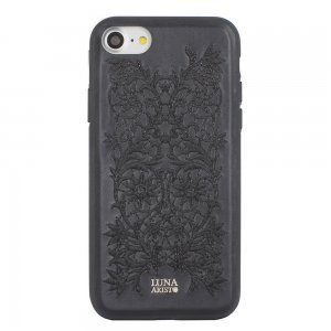 Кожаный чехол Luna Aristo Bess черный для iPhone 7/8