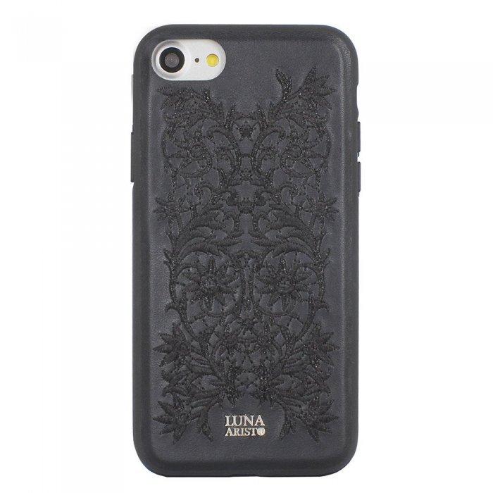 Кожаный чехол Luna Aristo Bess черный для iPhone 7/8/SE 2020