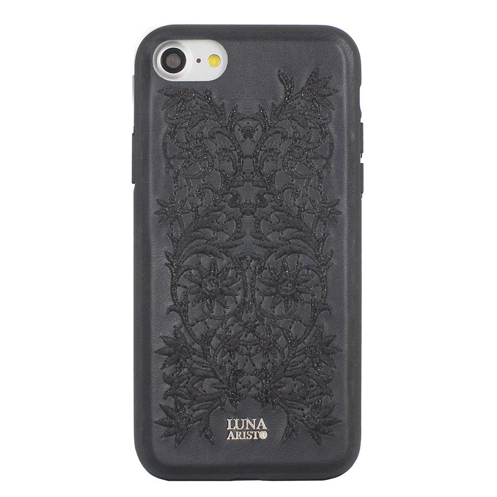 Кожаный чехол Luna Aristo Bess черный для iPhone 7 Plus/8 Plus