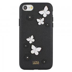 Кожаный чехол Luna Aristo Dale чёрный для iPhone 7 Plus/8 Plus