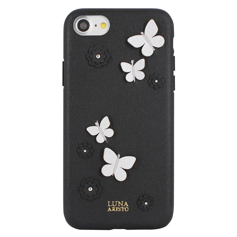 Кожаный чехол Luna Aristo Dale чёрный для iPhone 7/8