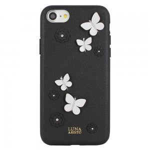 Кожаный чехол Luna Aristo Dale чёрный для iPhone 7/8/SE 2020