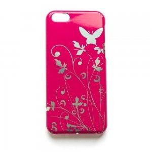 Чехол-накладка для Apple iPhone 5C - Butterfly Pattern розовый