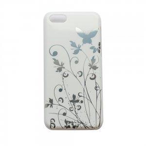 Чехол-накладка для Apple iPhone 5C - Butterfly Pattern белый