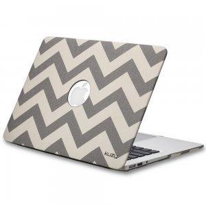 "Чехол-накладка для Apple MacBook Air 13"" - Kuzy Hard Case серый Chevron"