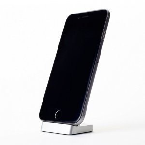 Док-станция для Apple iPhone 5/5C/5S/6/6S - Moizen Cabin Dock серебристая