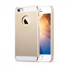 Металлический чехол iBacks Essence 2 золотой для iPhone 5/5S/SE