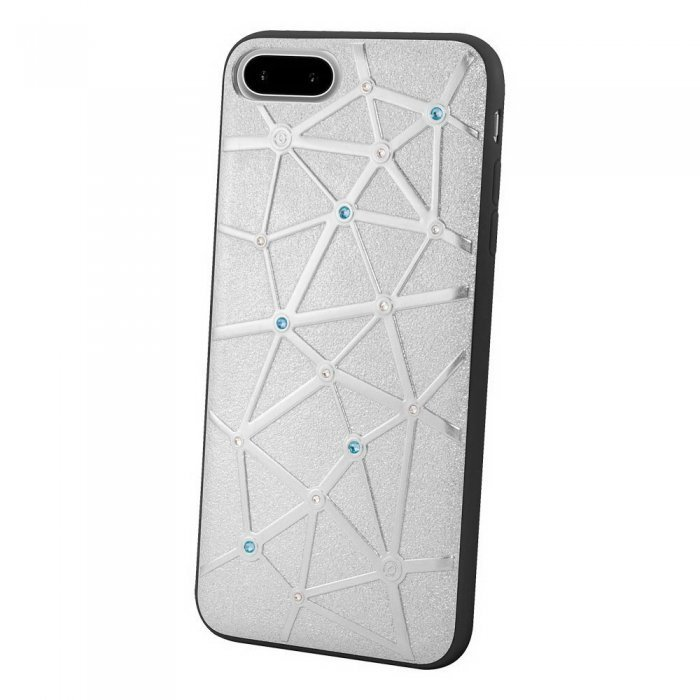 Чехол со стразами Coteetci Star серебристый для iPhone 8 Plus/7 Plus