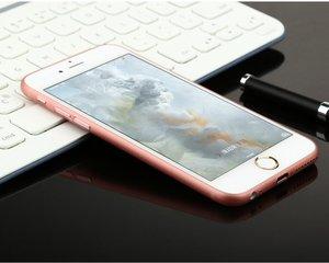 Полупрозрачный чехол Baseus Slender розовый для iPhone 6 Plus/6S Plus