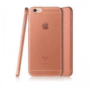 Полупрозрачный чехол Baseus Slender розовый для iPhone 6/6S Plus