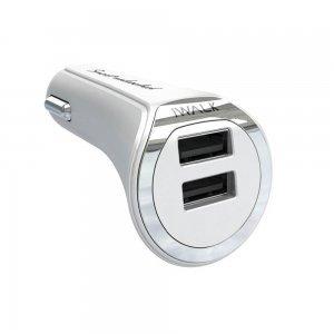 Автомобильное зарядное устройство iWALK Dolphin Duo 3.4А белое