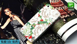 Чехол-накладка для Apple iPhone 5/5S с рисунком White Flowers