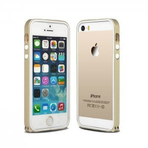Чехол-бампер для Apple iPhone 5/5S - Kindtoy золотистый