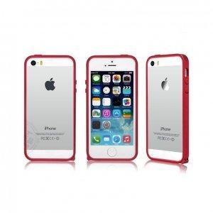 Чехол-бампер для Apple iPhone 5/5S - Kindtoy красный