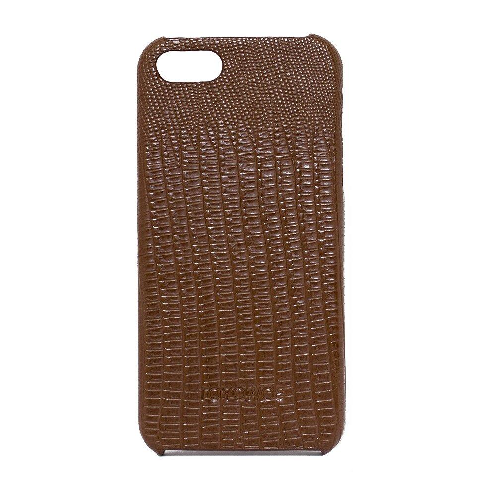Кожаный чехол Kindtoy Snake коричневый для iPhone 5/5S/SE