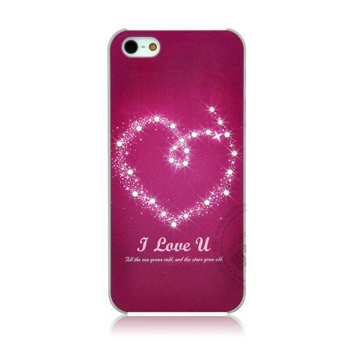 Чехол-накладка для Apple iPhone 5/5S - Kindtoy picture & rhinestones Heart