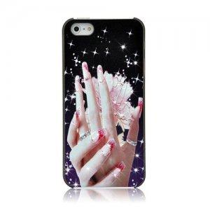 Чехол со стразами Kindtoy Hands для iPhone 5/5S/SE