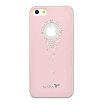 Чехол-накладка для Apple iPhone 5/5S - Kindtoy Swarovski Waterfall розовый
